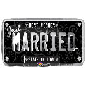 Just Married Licence Plate - Uninflated