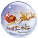 Santa Sleigh Bubble - Uninflated