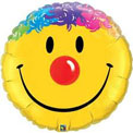 Yellow Smiley Rainbow Hair - Uninflated