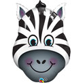 Zany Zebra SuperShape - Uninflated